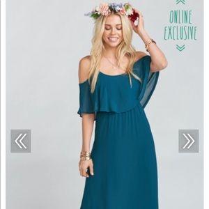 Show Me Your Mumu Caitlin maxi dress - deep jade